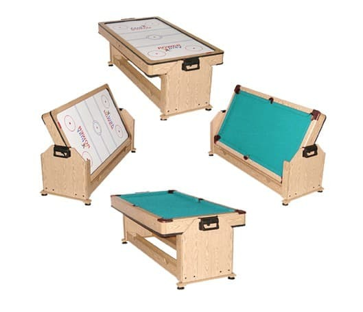 Игровой стол WEEKEND BILLIARD COMPANY 2 в 1 (пул + аэрохоккей) TWISTER (дуб)