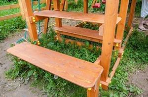 Столик с 2-мя лавочками для ДИП «Бретань»