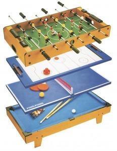 Игровой стол 4 в 1 PARTIDA ФУТБОЛ + АЭРОХОККЕЙ + ТЕННИС + БИЛЬЯРД 82