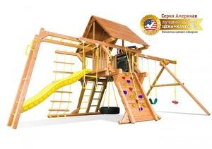 Игровая площадка RAINBOW AMERICAN CASTLE III - Американ Кастл III деревянная крыша