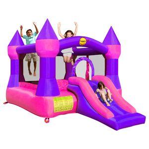"""Детский надувной Батут с горкой """"Супер прыжок"""" HAPPY HOP 9017P"""