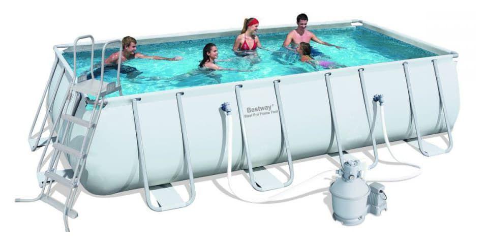 Бассейн каркасный Bestway Rectangular Frame Pool - 56390 488х274х122 см