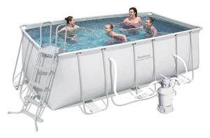 Бассейн каркасный Bestway Rectangular Frame Pool - 56457.56244 412х201х122 см