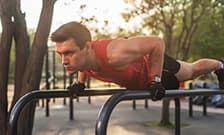 Упражнения на брусьях - комплекс упражнений