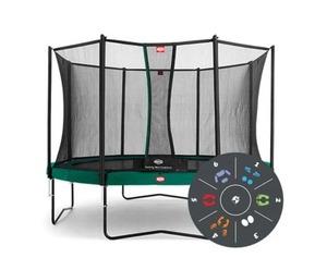 Батут Berg Champion Regular 430 Black + Safety Net Comfort 430