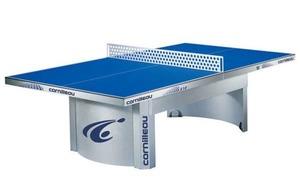 Всепогодный антивандальный теннисный стол CORNILLEAU PRO 510 OUTDOOR синий