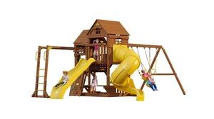 Детский городок DREAMWOOD «Панорама» с винтовой трубой, спуском и рукоходом