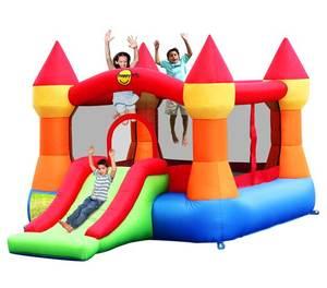 """Детский надувной Батут с горкой """"Супер прыжок"""" HAPPY HOP 9017N"""