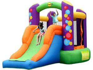 """Детский надувной батут с горкой """"Воздушные шары"""" HAPPY HOP 9236"""