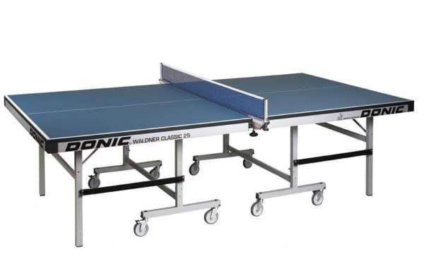 Профессиональный теннисный стол для помещений DONIC WALDNER CLASSIC 25 синий