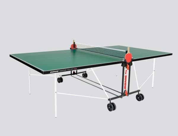Теннисный стол для помещений DONIC INDOOR ROLLER FUN зеленый