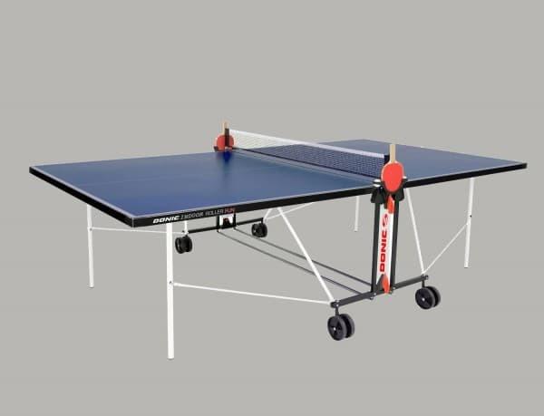 Всепогодный теннисный стол DONIC OUTDOOR ROLLER FUN синий