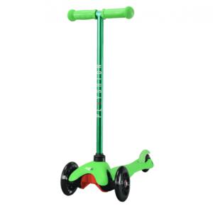 Самокат со светящимися колесами PLAYSHION FS-MS001LG (Зеленый)