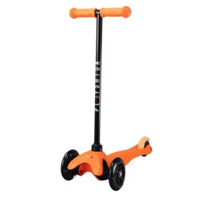 Самокат со светящимися колесами PLAYSHION FS-MS001LO (Оранжевый)
