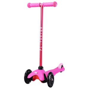 Самокат со светящимися колесами PLAYSHION FS-MS001LP (Розовый)