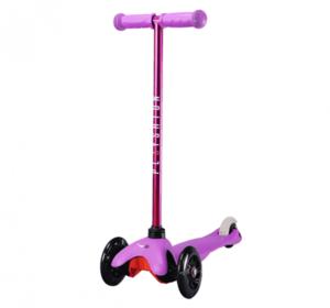 Самокат со светящимися колесами PLAYSHION FS-MS001LV (Фиолетовый)