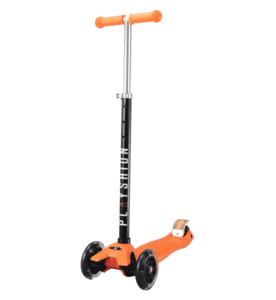 Самокат Макси PLAYSHION со светящимися колесами FS-MS002LO (Оранжевый)