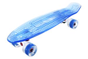 Скейтборд прозрачный PLAYSHION FS-PS002B (Синий)