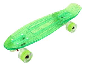 Скейтборд прозрачный PLAYSHION FS-PS002G (Зеленый)