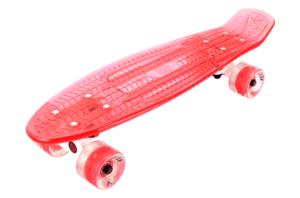 Скейтборд прозрачный PLAYSHION FS-PS002R (Красный)