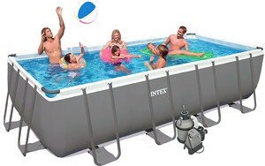 Бассейн каркасный Intex Rectangular Ultra Frame Pool 26352  549х274х132 см