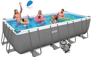 Бассейн каркасный Intex Rectangular Ultra Frame Pool 26352  549х274х132 см