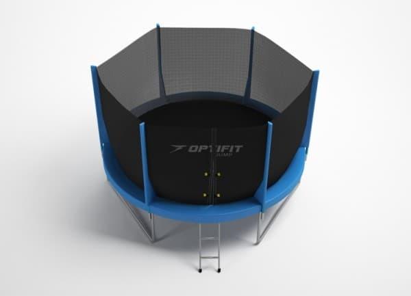 Батут OPTIFIT JUMP 8ft 2,44 м (с защитной сетью и лестницей)