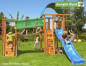 Детский городок JUNGLE GYM VILLA + BRIDGE MODULE