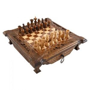 Шахматы резные в ларце 40, Haleyan