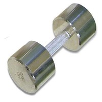 Гантель хромированная для фитнеса 9 кг MB-FitM-9