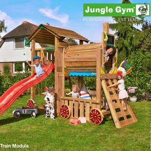 Детский городок JUNGLE GYM COTTAGE + TRAIN MODULE