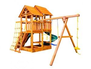 Игровая площадка Playgarden SkyFort со спиральной горкой