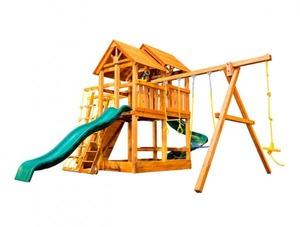 Игровая площадка Playgarden SkyFort II со спиральной горкой и рукоходом