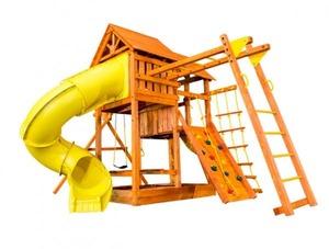 Игровая площадка Playgarden SkyFort DeLuxe II с двумя горками и рукоходом