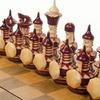 Шахматы резные ручной работы дорожные