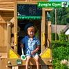 Детский городок JUNGLE GYM COTTAGE + TRAIN MODULE + SWING MODULE